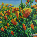 "Al's Poppies(30"" x 24"")@Emerson Art Gallery, Fountain Hills"